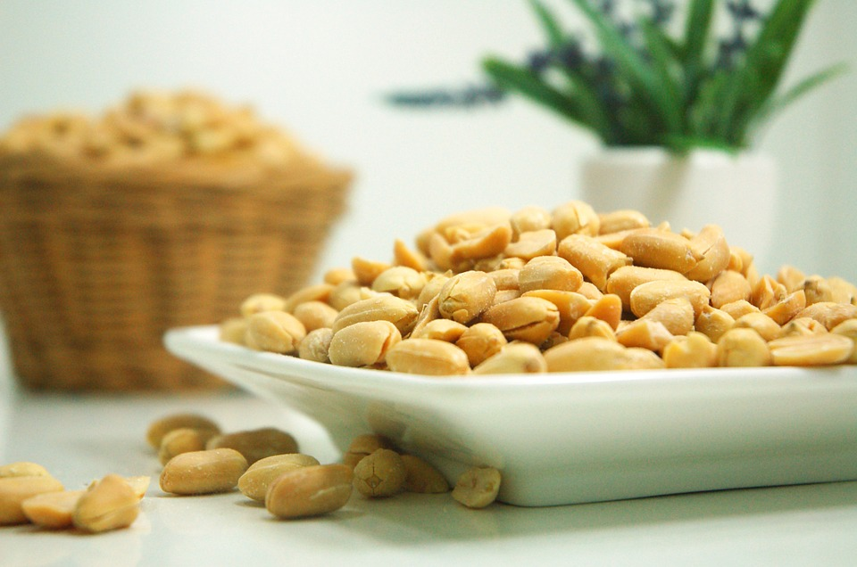 Four Raw dried beans and peanuts